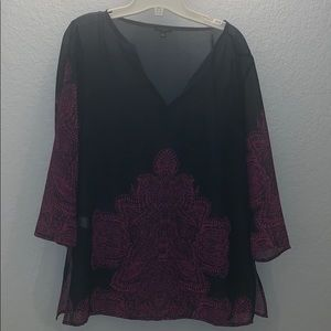 Ann Taylor blouse with matching scarf